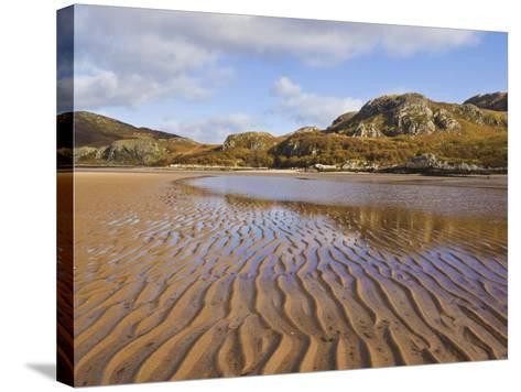 Sand Ripple Patterns on Little Gruinard Beach, Gruinard Bay, Wester Ross, Northwest Scotland-Neale Clarke-Stretched Canvas Print