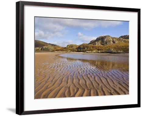 Sand Ripple Patterns on Little Gruinard Beach, Gruinard Bay, Wester Ross, Northwest Scotland-Neale Clarke-Framed Art Print