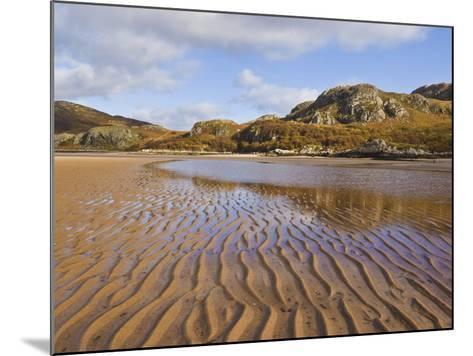 Sand Ripple Patterns on Little Gruinard Beach, Gruinard Bay, Wester Ross, Northwest Scotland-Neale Clarke-Mounted Photographic Print