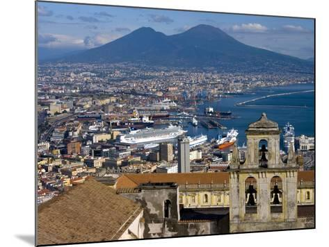 Cityscape With Certosa Di San Martino and Mount Vesuvius Naples, Campania, Italy, Europe-Charles Bowman-Mounted Photographic Print