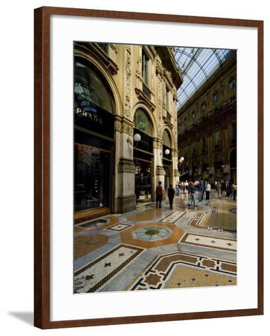 Galleria Vittorio Emanuele Ii, Milan, Lombardy, Italy, Europe-Charles Bowman-Framed Art Print