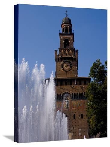 Castle Sforzesco, Milan, Lombardy, Italy, Europe-Charles Bowman-Stretched Canvas Print