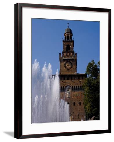 Castle Sforzesco, Milan, Lombardy, Italy, Europe-Charles Bowman-Framed Art Print