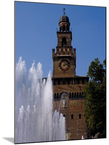 Castle Sforzesco, Milan, Lombardy, Italy, Europe-Charles Bowman-Mounted Photographic Print