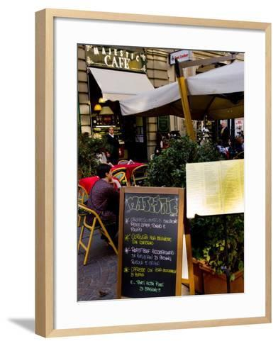 Street Cafe, Milan, Lombardy, Italy, Europe-Charles Bowman-Framed Art Print