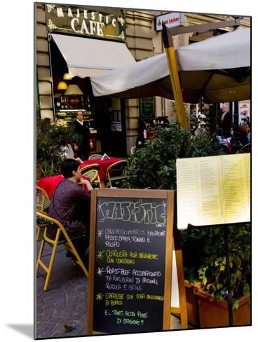 Street Cafe, Milan, Lombardy, Italy, Europe-Charles Bowman-Mounted Photographic Print