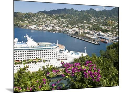 Sea Princess in Kingstown Harbour, St. Vincent, St. Vincent and the Grenadines, Windward Islands-Michael DeFreitas-Mounted Photographic Print