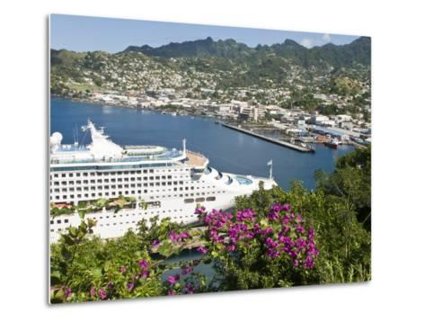 Sea Princess in Kingstown Harbour, St. Vincent, St. Vincent and the Grenadines, Windward Islands-Michael DeFreitas-Metal Print
