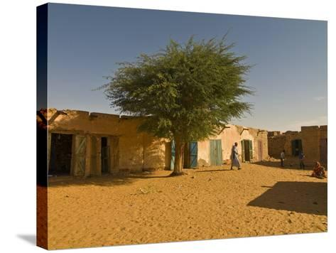 Sandy Square at UNESCO World Heritage Site of Chinguetti, Medieval Trading Centre, N. Mauritania-Michael Runkel-Stretched Canvas Print