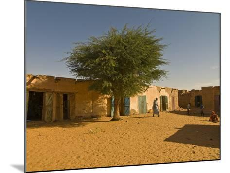 Sandy Square at UNESCO World Heritage Site of Chinguetti, Medieval Trading Centre, N. Mauritania-Michael Runkel-Mounted Photographic Print