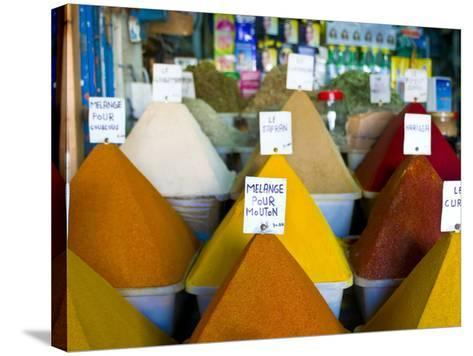 Colourful Spices in the Souk of the Coastal City of Essaouira, Morocco, North Africa, Africa-Michael Runkel-Stretched Canvas Print