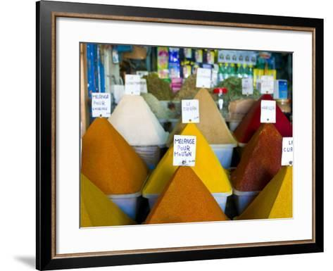 Colourful Spices in the Souk of the Coastal City of Essaouira, Morocco, North Africa, Africa-Michael Runkel-Framed Art Print