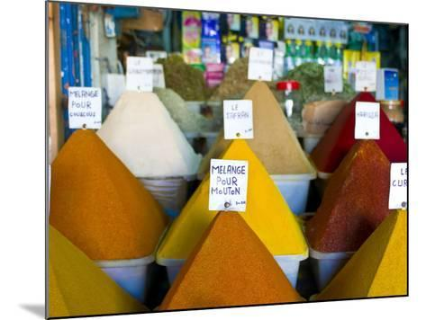Colourful Spices in the Souk of the Coastal City of Essaouira, Morocco, North Africa, Africa-Michael Runkel-Mounted Photographic Print