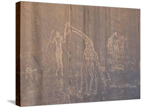 Rock Inscription, Tassili N'Ajjer, UNESCO World Heritage Site, Algeria, North Africa, Africa-Michael Runkel-Stretched Canvas Print