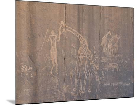 Rock Inscription, Tassili N'Ajjer, UNESCO World Heritage Site, Algeria, North Africa, Africa-Michael Runkel-Mounted Photographic Print