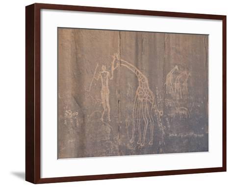 Rock Inscription, Tassili N'Ajjer, UNESCO World Heritage Site, Algeria, North Africa, Africa-Michael Runkel-Framed Art Print