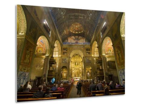 Inside the Igreja Do Colegio, Funchal, Madeira, Portugal, Europe-Michael Runkel-Metal Print