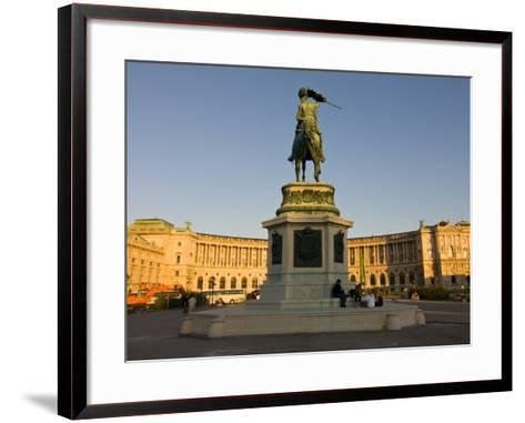 The Hofburg Palace on the Heldenplatz, Vienna, Austria, Europe-Michael Runkel-Framed Art Print