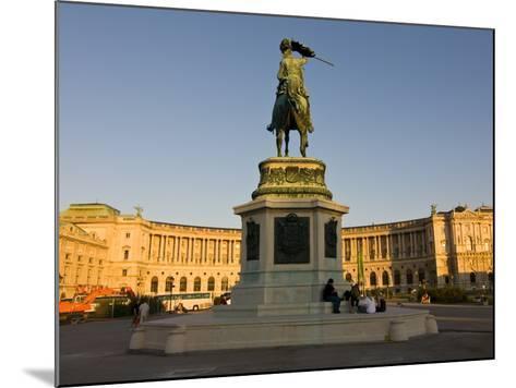 The Hofburg Palace on the Heldenplatz, Vienna, Austria, Europe-Michael Runkel-Mounted Photographic Print