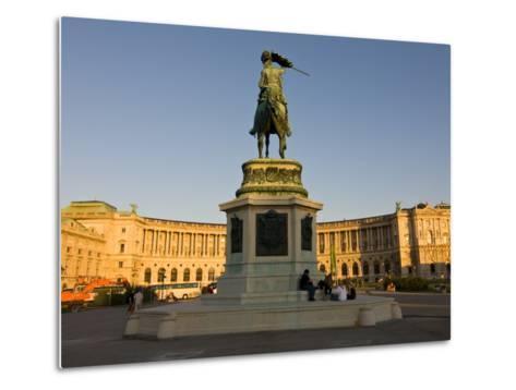 The Hofburg Palace on the Heldenplatz, Vienna, Austria, Europe-Michael Runkel-Metal Print