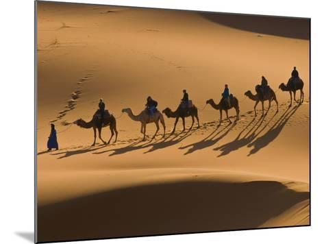 Camels in the Dunes, Merzouga, Morocco, North Africa, Africa-Michael Runkel-Mounted Photographic Print
