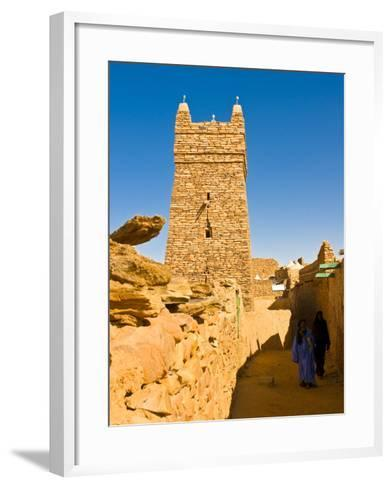 Ksar of the Medieval Trading Centre of Chinguetti, UNESCO World Heritage Site, Northern Mauritania-Michael Runkel-Framed Art Print