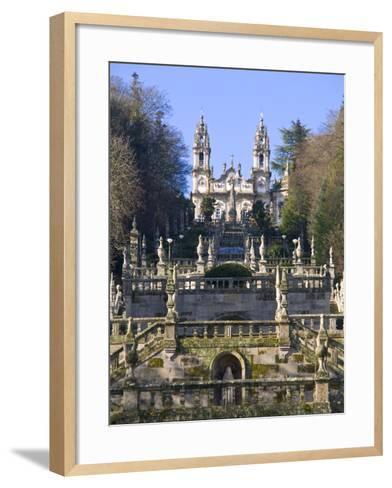 Santuario Nossa Senhora Dos Remedios, UNESCO World Heritage Site, Lamego, Portugal , Europe-Michael Runkel-Framed Art Print