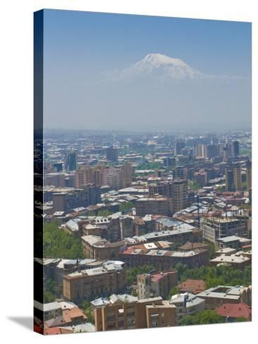 View Over the Capital City, Yerevan, with Mount Ararat in the Distance, Armenia, Caucasus-Michael Runkel-Stretched Canvas Print