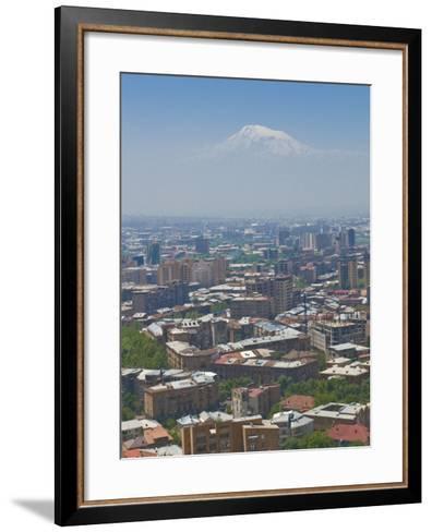 View Over the Capital City, Yerevan, with Mount Ararat in the Distance, Armenia, Caucasus-Michael Runkel-Framed Art Print