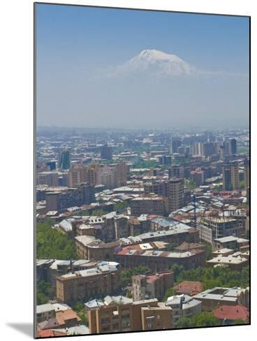 View Over the Capital City, Yerevan, with Mount Ararat in the Distance, Armenia, Caucasus-Michael Runkel-Mounted Photographic Print