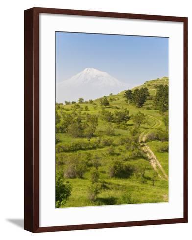 Path Leading to Mount Ararat, Armenia, Caucasus, Central Asia, Asia-Michael Runkel-Framed Art Print
