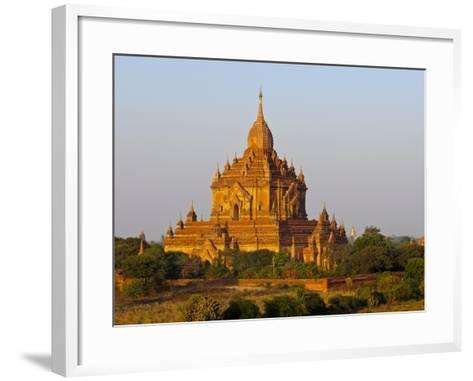 Huge Old Temple in Bagan, Myanmar, Asia-Michael Runkel-Framed Art Print
