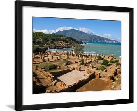 Roman Ruins of Tipasa, on the Algerian Coast, Algeria, North Africa, Africa-Michael Runkel-Framed Art Print