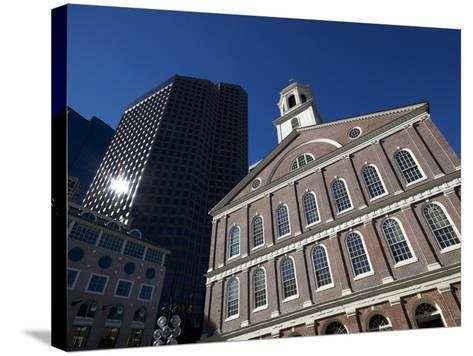 Faneuil Hall, Boston, Massachusetts, New England, USA--Stretched Canvas Print