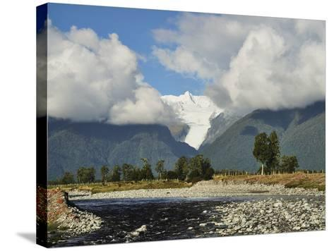 Clearwater Creek and Fox Glacier, Westland Tai Poutini National Park, New Zealand-Jochen Schlenker-Stretched Canvas Print
