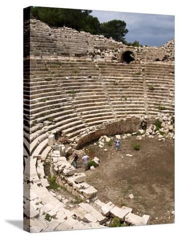 Amphitheatre at the Lycian Site of Patara, Near Kalkan, Antalya Province, Anatolia, Turkey--Stretched Canvas Print