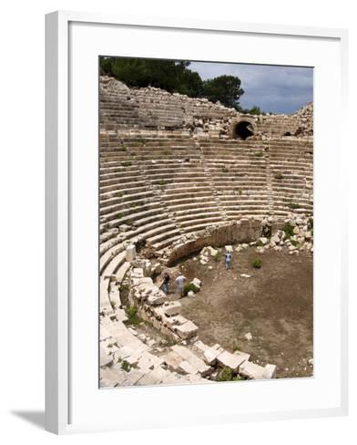 Amphitheatre at the Lycian Site of Patara, Near Kalkan, Antalya Province, Anatolia, Turkey--Framed Art Print