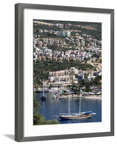 Gulet Anchored at Kalkan, a Popular Tourist Resort, Antalya Province, Anatolia, Turkey--Framed Art Print