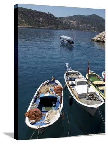 Harbour at Kalkan, a Popular Tourist Resort, Antalya Province, Anatolia, Turkey--Stretched Canvas Print