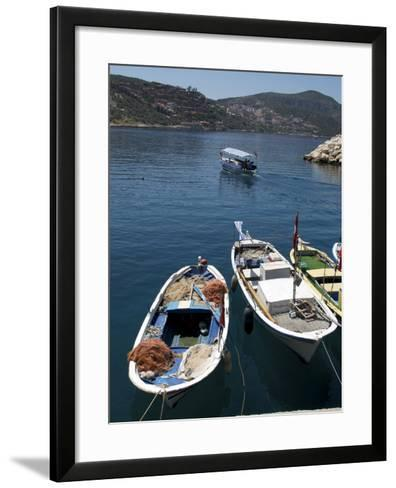 Harbour at Kalkan, a Popular Tourist Resort, Antalya Province, Anatolia, Turkey--Framed Art Print