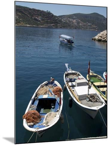 Harbour at Kalkan, a Popular Tourist Resort, Antalya Province, Anatolia, Turkey--Mounted Photographic Print
