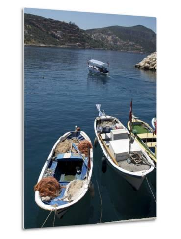 Harbour at Kalkan, a Popular Tourist Resort, Antalya Province, Anatolia, Turkey--Metal Print
