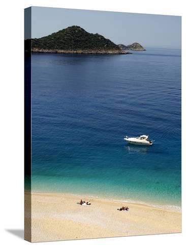Kaputas Beach at Kalkan Area, Anatolia, Turkey, Asia Minor, Eurasia--Stretched Canvas Print