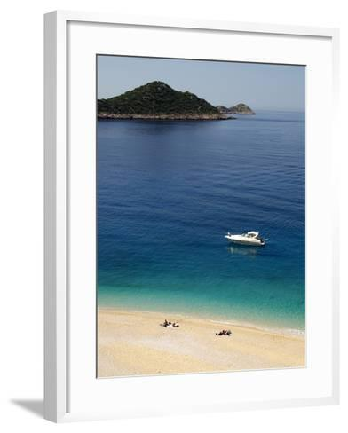 Kaputas Beach at Kalkan Area, Anatolia, Turkey, Asia Minor, Eurasia--Framed Art Print