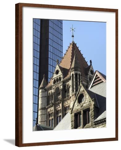 Trinity Church, Hancock Tower, Boston, Massachusetts, New England, USA--Framed Art Print