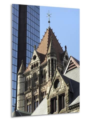 Trinity Church, Hancock Tower, Boston, Massachusetts, New England, USA--Metal Print