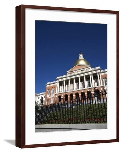 Massachusetts State House, Boston, Massachusetts, New England, USA--Framed Art Print