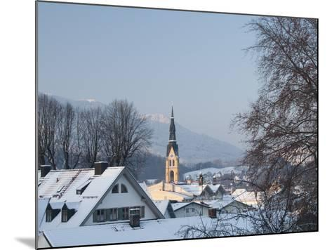 Bad Tolz Spa Town Covered By Snow at Sunrise, Bavaria, Germany-Richard Nebesky-Mounted Photographic Print