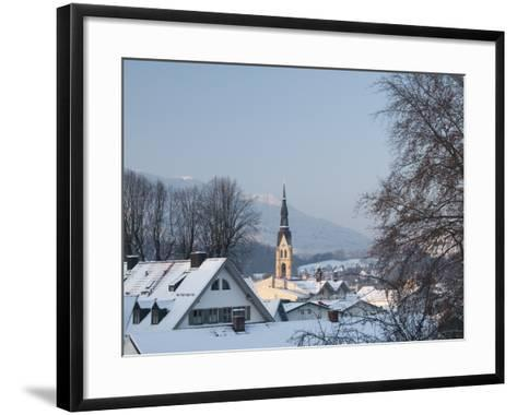 Bad Tolz Spa Town Covered By Snow at Sunrise, Bavaria, Germany-Richard Nebesky-Framed Art Print
