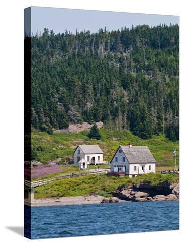 Historic Settlement on Ile Bonaventure Offshore of Perce, Quebec, Canada, North America-Michael DeFreitas-Stretched Canvas Print